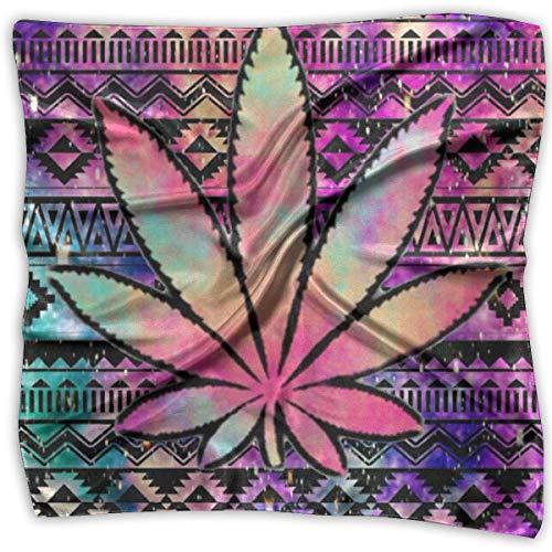 Pizeok Aztec Tie Dye Weed Square Handkerchiefs Scarf Shawl Bandanas Headscarf Neckerchief Tie Hair Scarf