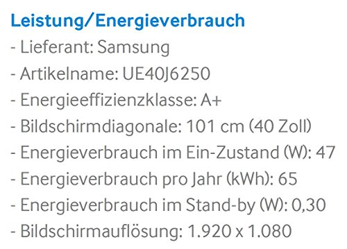 Samsung UE40J6250 101 cm (40 Zoll) Full-HD Fernseher - 3