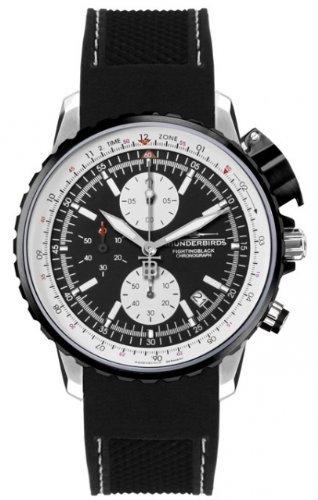 Thunderbirds - FightingBlack Steel - Chronograph - Silikonband - Ref. TB1057-01-K01