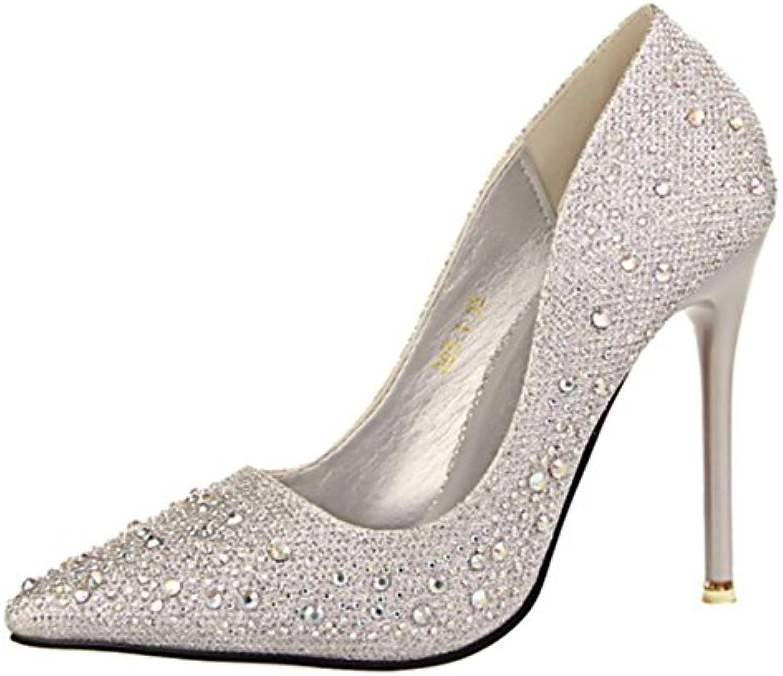 63721f41341715 DIMAOL Chaussures Pour Femmes Glitter Printemps Automne Automne Automne  Gladiator Pompe de Base Talon Aiguille Talons Bout Rond.