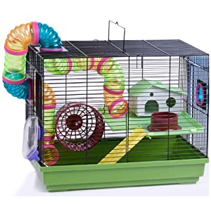 Hamster Cage Indoor Charlie Food Dish Ladder Tubes  from ppd