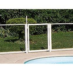 Chalet et jardin 24MODULEPORTILLON Barrière de Protection pour Piscine Portillon Transparent 90 x 117 cm