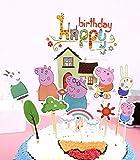 Cake & Sweet Decorazione per Torta di Compleanno di Peppa Pig, 12 Pezzi