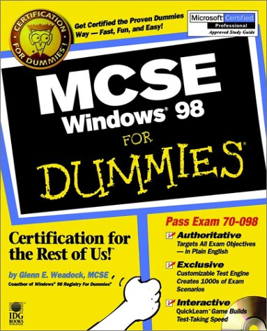 MCSE Windows 98 For Dummies por Dummies Technology Press