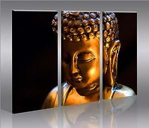 Bouddha V6 Bouddha Tableau sur Toile Poster Tableaux pour la mur - prêts à poser