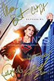 Supergirl Poster Photo 12x8 Signed PP by 6 Cast Melissa Benoist, Chyler Leigh, Calista Flockhart, Peter Facinelli Autograph Print Perfect Gift Collectible