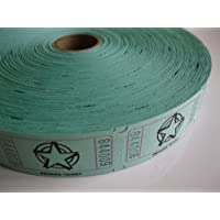 2000 Green Star Single Roll Consecutively Numbered Raffle Tickets by 50/50 Raffle Tickets