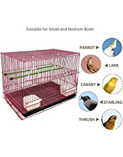"""PSK Bird Cage Best for Lovebird/Pet, Parrot, Parakeet, Budgie, Cockatiel Cage Hammock Large Bird Cage (Size: 23.5"""" Long, 16.5"""" Wide and 16"""" Height) Color May Vary"""