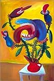 Posterlounge Leinwandbild 20 x 30 cm: Fleischfressende Pflanze von Diego Manuel Rodriguez - fertiges Wandbild, Bild auf Keilrahmen, Fertigbild auf Echter Leinwand, Leinwanddruck
