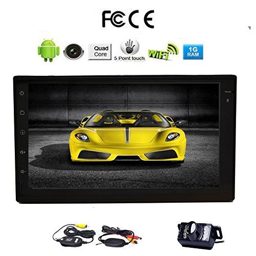 "Letzte 7 ""kapazitiver Touch Screen Double 2 Din Android 5.1.1 Universal-Autoradio-Quad-Core- Auto GPS-Navigation besten No-DVD Head Unit Spiegel Link WiFi Internet Wireless Heckkamera"