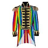 WIDMANN 59332 Herren Frack Rainbow Parade kostüm, M, M