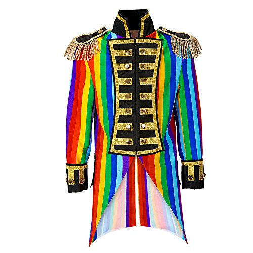 Widmann 59332 - Herren Frack Rainbow Parade kostüm, M (Halloween Kostüm Frack)
