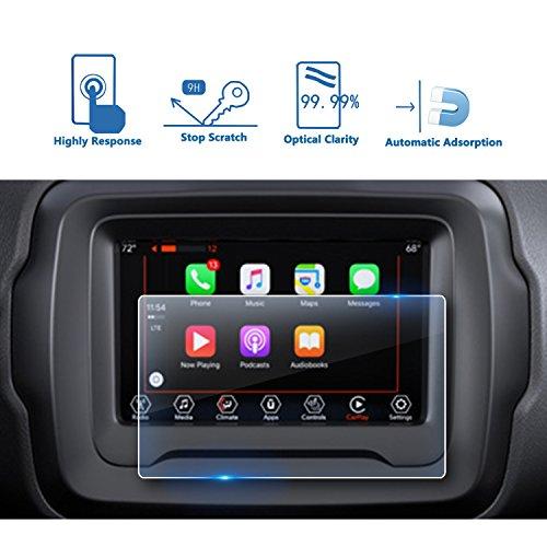 LFOTPP Jeep Renegade Uconnect 7 Zoll Navigation Schutzfolie - 9H Kratzfest Anti-Fingerprint Panzerglas Displayschutzfolie GPS Navi Folie -