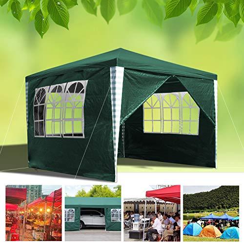 wolketon 3x3m gazebo da giardino, tenda da giardino impermeabile,gazebo per festa/matrimonio/barbecue con pareti laterali