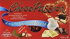 Idea Regalo - Crispo Confetti Cioco Passion Cioccolato al Latte con Cuore di Cioccolato Bianco - Colore Rosso - 3 confezioni da 1 kg [3 kg]