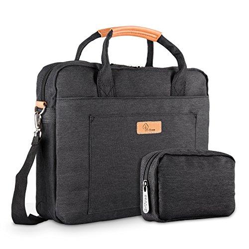 E-Tree 15-15.6 Zoll Laptoptasche Aktentaschen Handtasche Tragetasche Schulter Tasche Notebooktasche Laptop Sleeve Laptop Hülle für bis zu 15-15.6 Zoll Laptop Dell Alienware/MacBook/Lenovo/HP,Schwarz