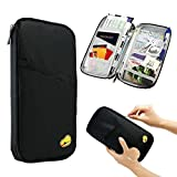 #5: Inovera Multipurpose Card Organizer Craditcard Passport Pouch Holder Wallet (Black)