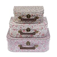 Sass & Belle Vintage (Set of 3) Floral Suitcases