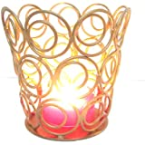 Nexplora Industries Decorative Votive Ring Tealight Candle Holder (Gold) 9 CM