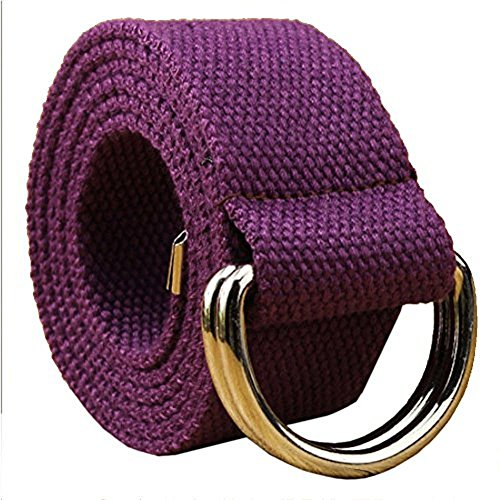 ayg-fashion-fabric-unisex-double-loop-buckle-casual-long-weave-canvas-belt-with-13-colours