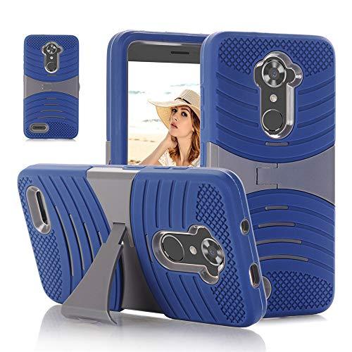 QINPIN Zurück Hybrid Cover für ZTE ZMAX Pro/Carry Z981 / Blade X Max Phone Blau