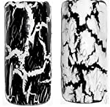 Crackle Nagellack Set: Black and White je 4,5 ml