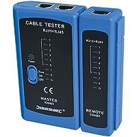 Silverline 539465 - Comprobador de cable LAN (RJ11 y RJ45)