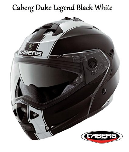 Caberg Motorrad Duke Legend Flip Up Helm 2016Motorrad Flip vorne Sharp 5* * * * * ECE zugelassen Helm schwarz/weiß schwarz schwarz L