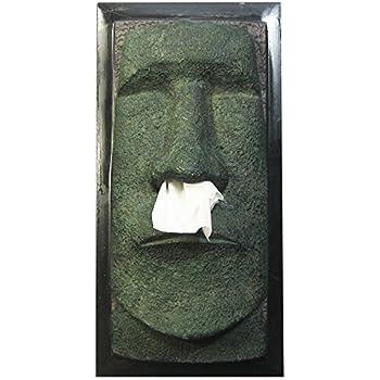 Rotary Hero   Moai Taschentuchbox / Osterinsel Taschentuchspender /  Kosmetiktücherbox