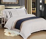 ZLQZZPP Biancheria Hotel Cotton Cotone Lettiera del Raso di Tre O Quattro Set,White-1.5M