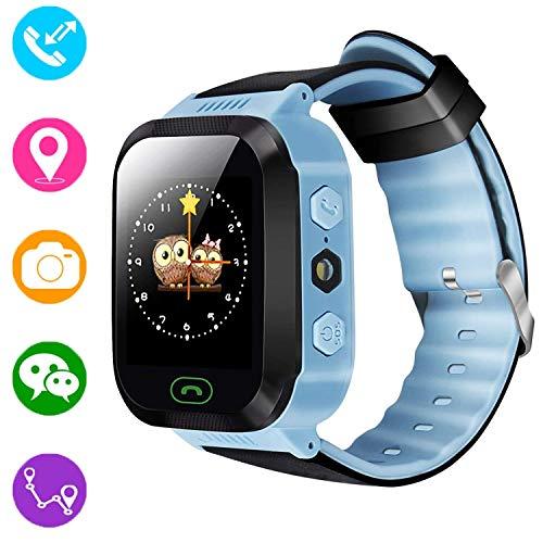 Reloj inteligente para niños, rastreador GPS para niños niñas...