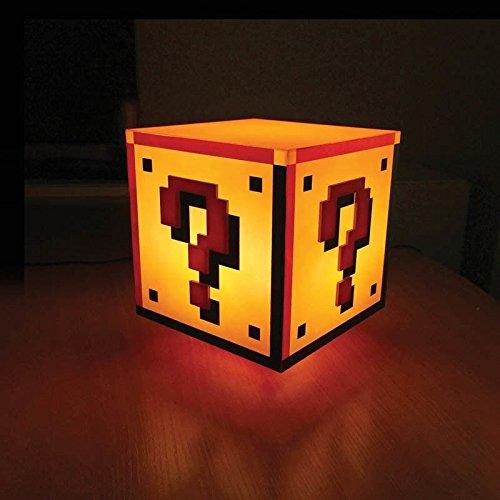 Super Mario Fragezeichen Block Dekolampe mit Sound - Super Mario Bros. Dekolicht Deko Licht Deko Lampe