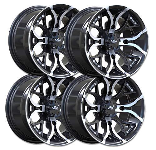 "VBW - tires Felgen A2 Quad ATV 12\"" Alufelgen Satz 12x7 & 12x8 Lochkreis 4/110"