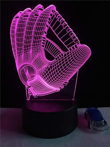 3D LED Illusion Lampe Nachtlicht Basketball Handschuh Heimdekor USB Geschenke Schlafzimmer 7 Farbe Party Tisch SJDBF