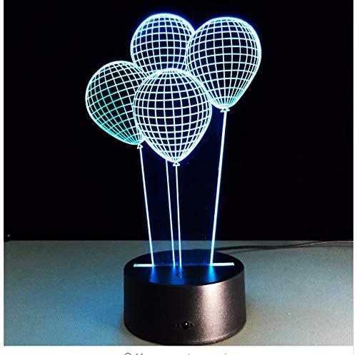 3D Ballons Nachtlicht Wohnzimmer Esszimmer Dekoration Beleuchtung Babyzimmer Schreibtisch Tischlampe Kinder Geschenk Valentinstag Stimmungslichter Licht Box