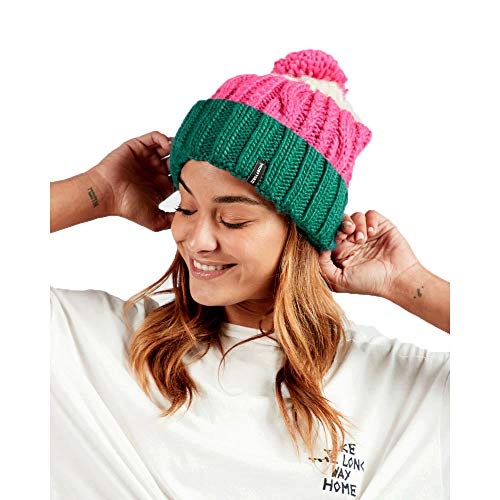 Billabong Headsss Bommelmütze - Blau-Pink - One Size (Billabong Damen Hut)