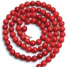 2 Hebras De 5 Mm De Coral Rojo Ronda Bolas Sueltas Naturales 16 Pulgadas