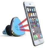 Support téléphone magnétique orientable de voiture VeoPulse pour grille d'aération bleu - universel : compatible tous smartphones (iphone 6 6plus 5 5S 4 4S...,samsung galaxy S4 S5 S6 Note 3 4 ,htc,nokia,nexus,LG...)