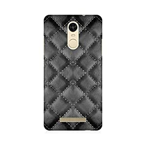 RAYITE Silver Printed pattern Abstract Premium Printed Mobile Back case cover For Xiaomi Redmi Note 3