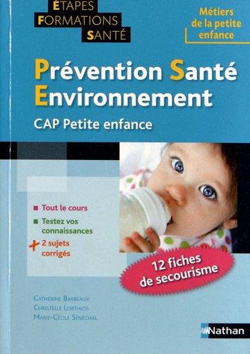 Prévention santé environnement pour le CAP petite enfance