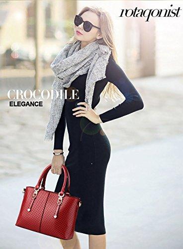 NICOLE&DORIS nuovi stereotipi della borsa di moda della borsa a tracolla temperamento femminile Messenger(Pink) Red wine