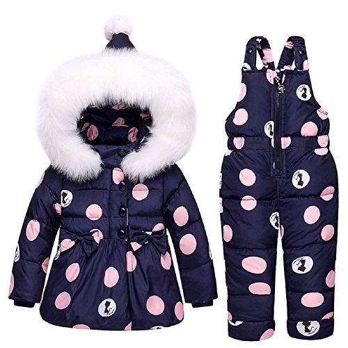 711ee09721ad3 XIRUI Niños Niñas Trajes de Invierno Invierno con Capucha Duck Down Jacket  + Pantalones Impermeable Snowsuit