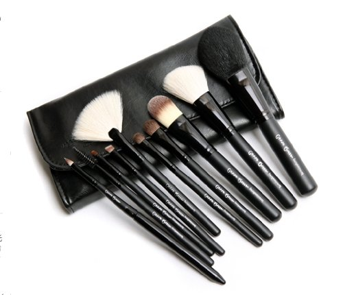 kit de 10 pinceaux à maquillage / ensembles des brosses cosmétiques / kit de beauté des pinceau de maquillage / pinceau poudre / cosmetic brushes (noir)