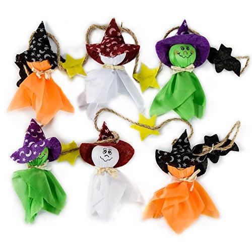Halloween Hängende Anhänger Zubita Halloween Dekoration Party Dekor Requisiten Ghost Kürbis Ghost Bats Star Hexe Umweltfreundlich Niedlich
