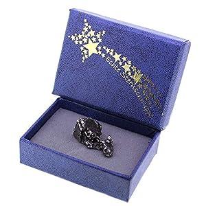 echte Sternschnuppe (Meteorit) mit Zertifikat in Schmuckbox, Geschenkset