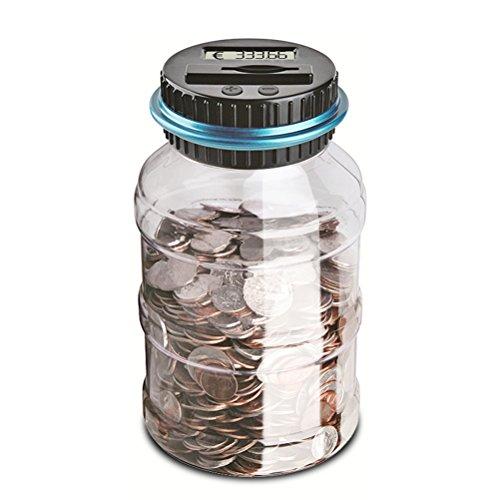 NUOLUX Elektronische Spardose für Münze mit Zählwerk (Dollar Und Coin Bank)