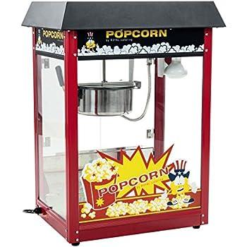 Royal Catering - RCPS-16E - Machine à popcorn - toit noir - 1600 W - 8 oz - 16 L/h