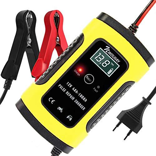 NWOUIIAY Chargeur de Batterie Intelligent Portable 6A / 12V LCD Écran avec Protections Multiples Type de réparation...