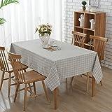 Grau Geometrisch Tischdecke -G.G.G. Anti-Rutsch-Polyester-Baumwoll-Tischtuch Mehrzweck-Mode Einfache Rechteck Tischdecke Großeformat