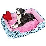 Amphia - Plus Samtverdickung,Weiche Haustier-Hundekatze-Bett-Welpen-Kissen-Haus-Haustier-weiche warme Zwinger-Hundematte-Decke(Mehrfarbig,M)